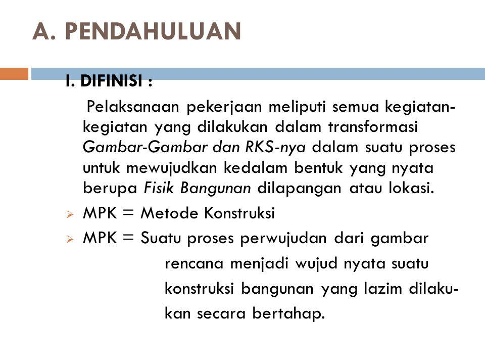 A. PENDAHULUAN I. DIFINISI :