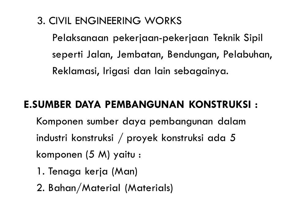 3. CIVIL ENGINEERING WORKS