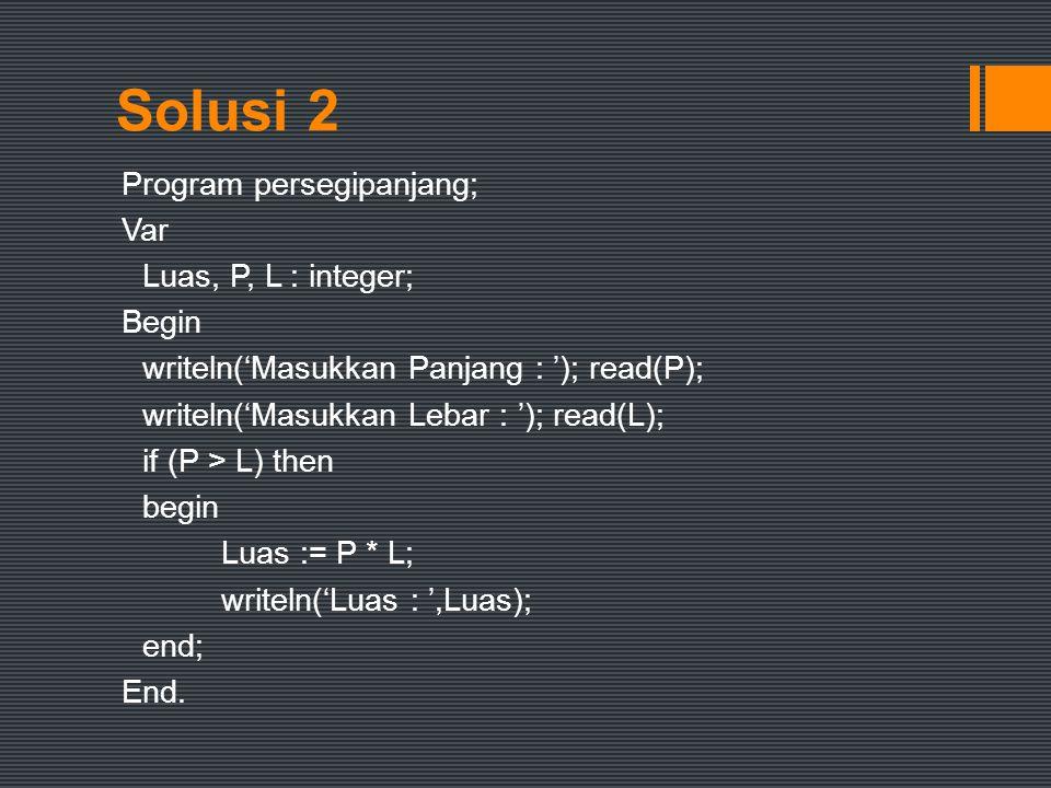 Solusi 2