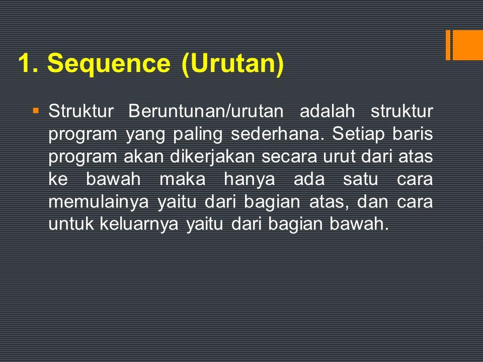 1. Sequence (Urutan)