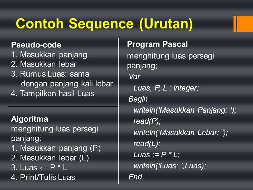 Contoh Sequence (Urutan)