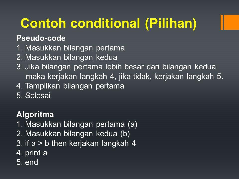 Contoh conditional (Pilihan)