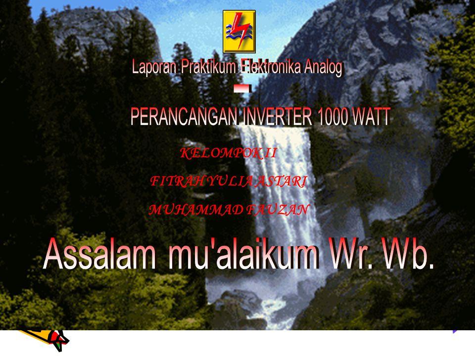KELOMPOK II FITRAH YULIA ASTARI MUHAMMAD FAUZAN