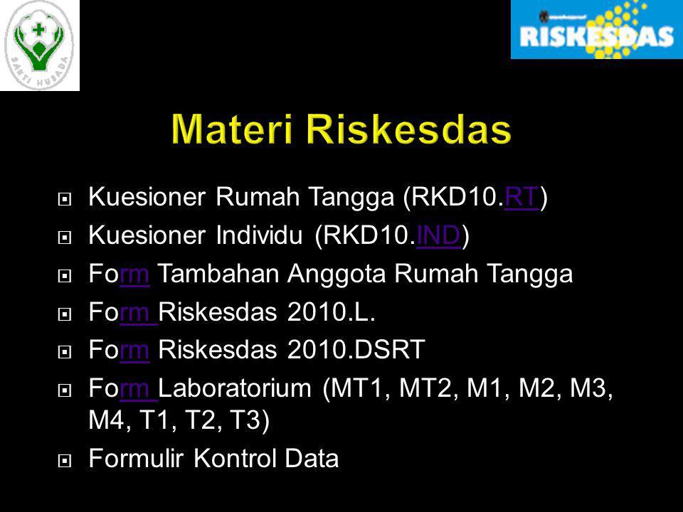Materi Riskesdas Kuesioner Rumah Tangga (RKD10.RT)