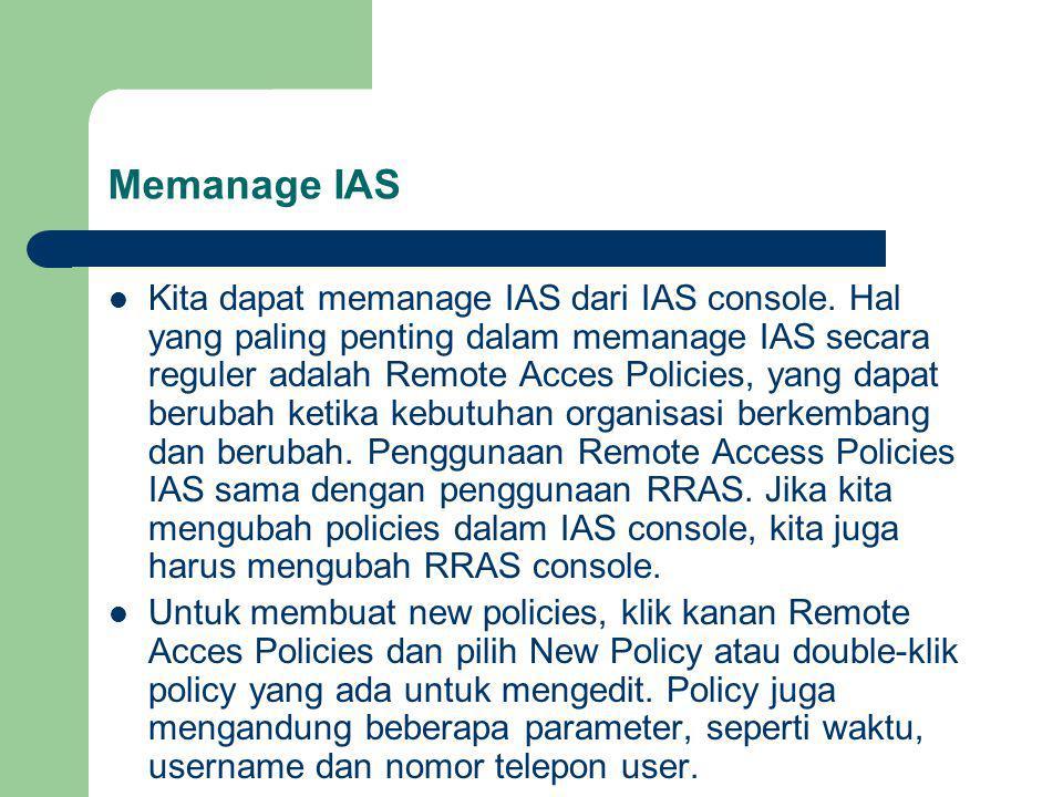 Memanage IAS