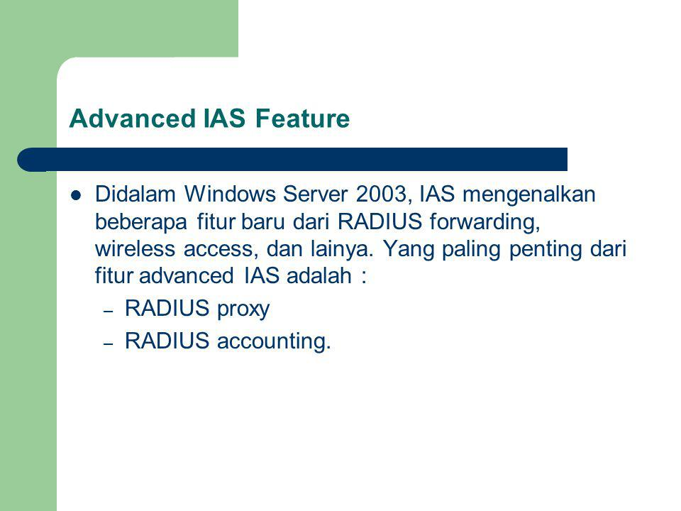 Advanced IAS Feature