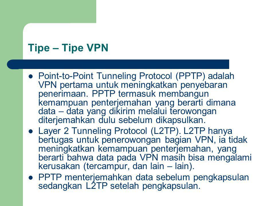 Tipe – Tipe VPN