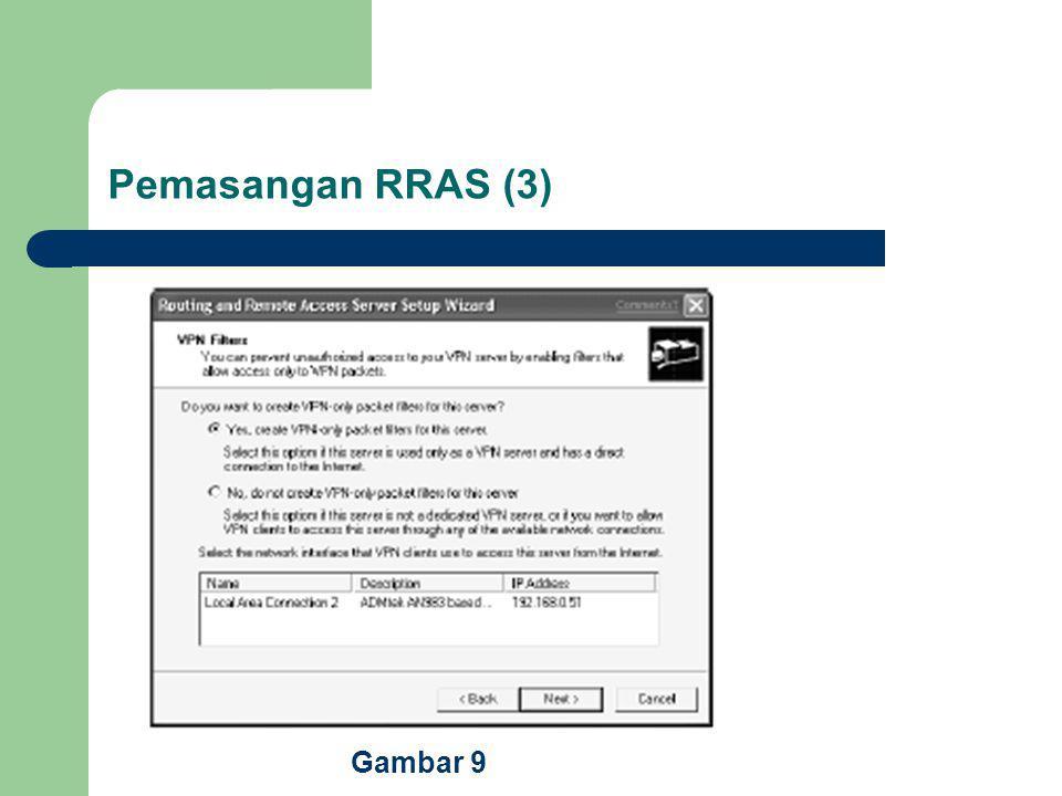 Pemasangan RRAS (3) Gambar 9
