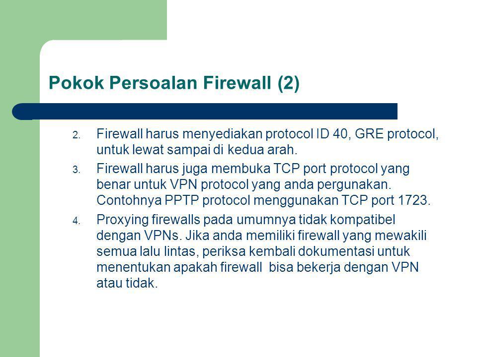 Pokok Persoalan Firewall (2)