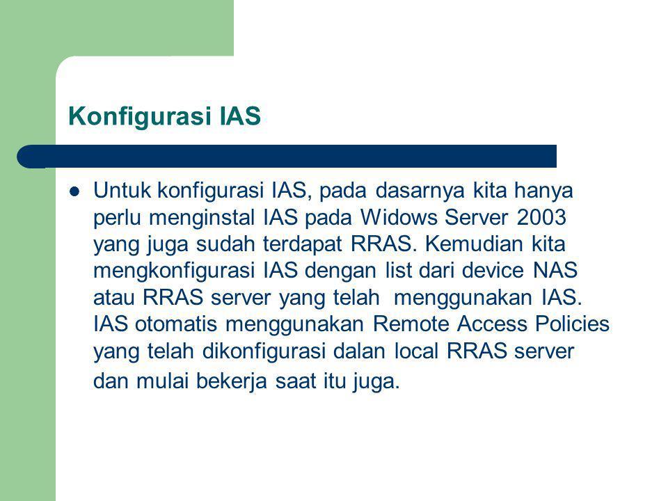Konfigurasi IAS