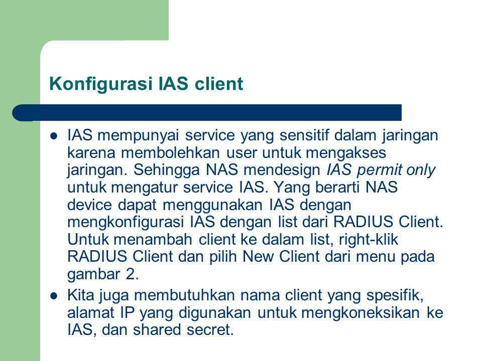 Konfigurasi IAS client