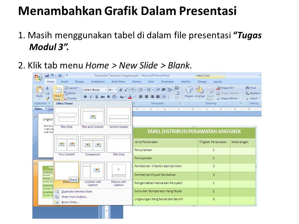 Menambahkan Grafik Dalam Presentasi