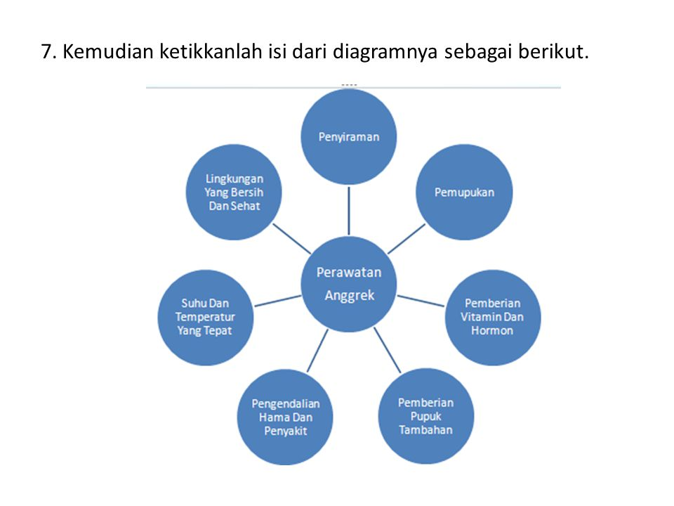 7. Kemudian ketikkanlah isi dari diagramnya sebagai berikut.