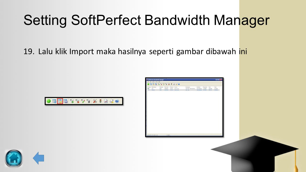 Setting SoftPerfect Bandwidth Manager