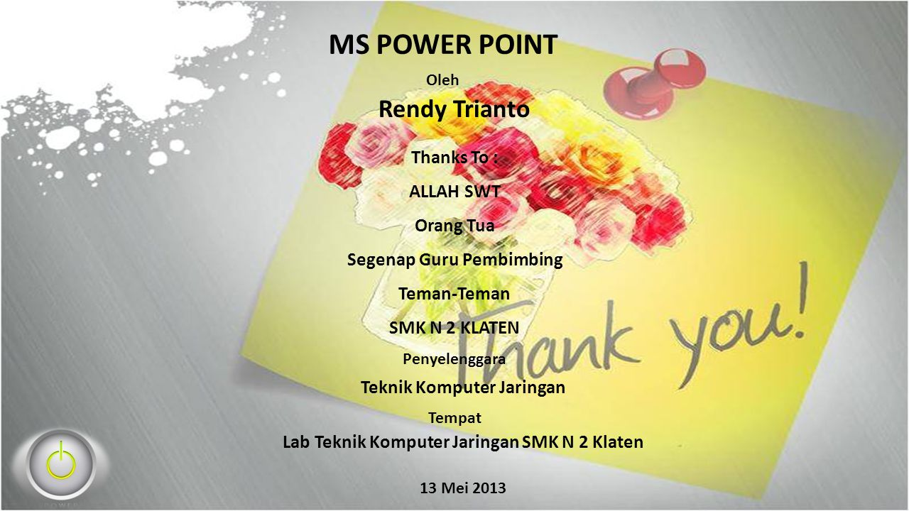 Presentasi TBM MS POWER POINT
