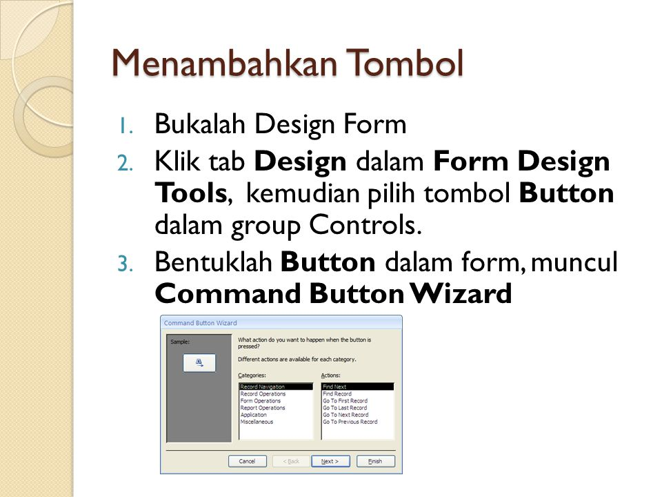Menambahkan Tombol Bukalah Design Form