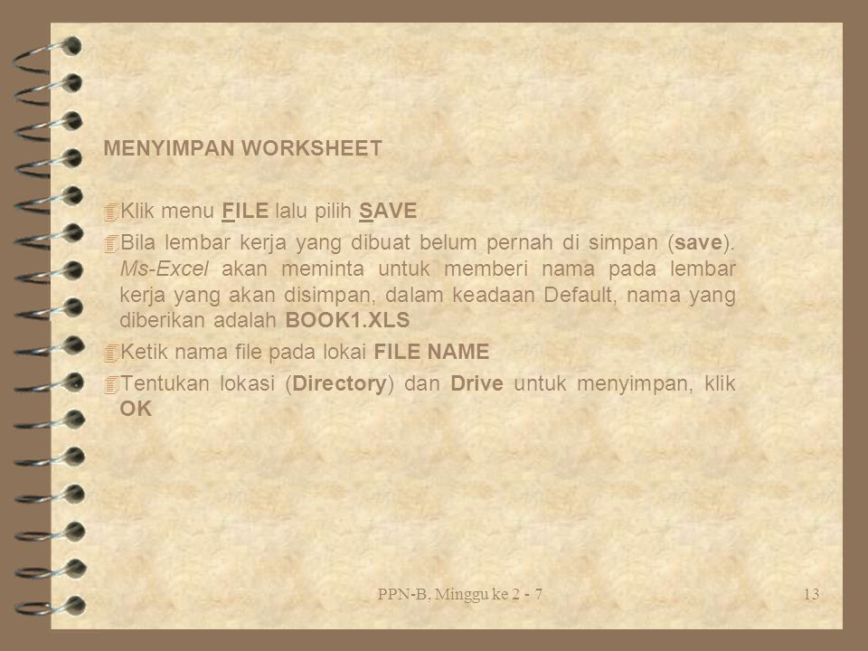 Klik menu FILE lalu pilih SAVE