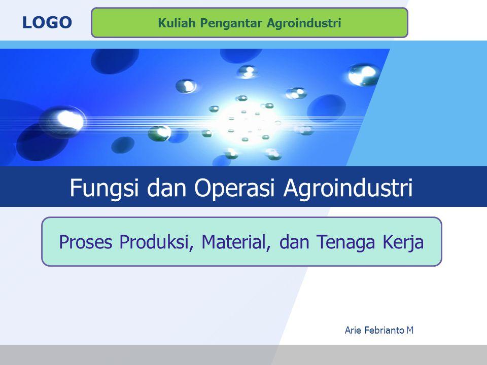 Fungsi dan Operasi Agroindustri