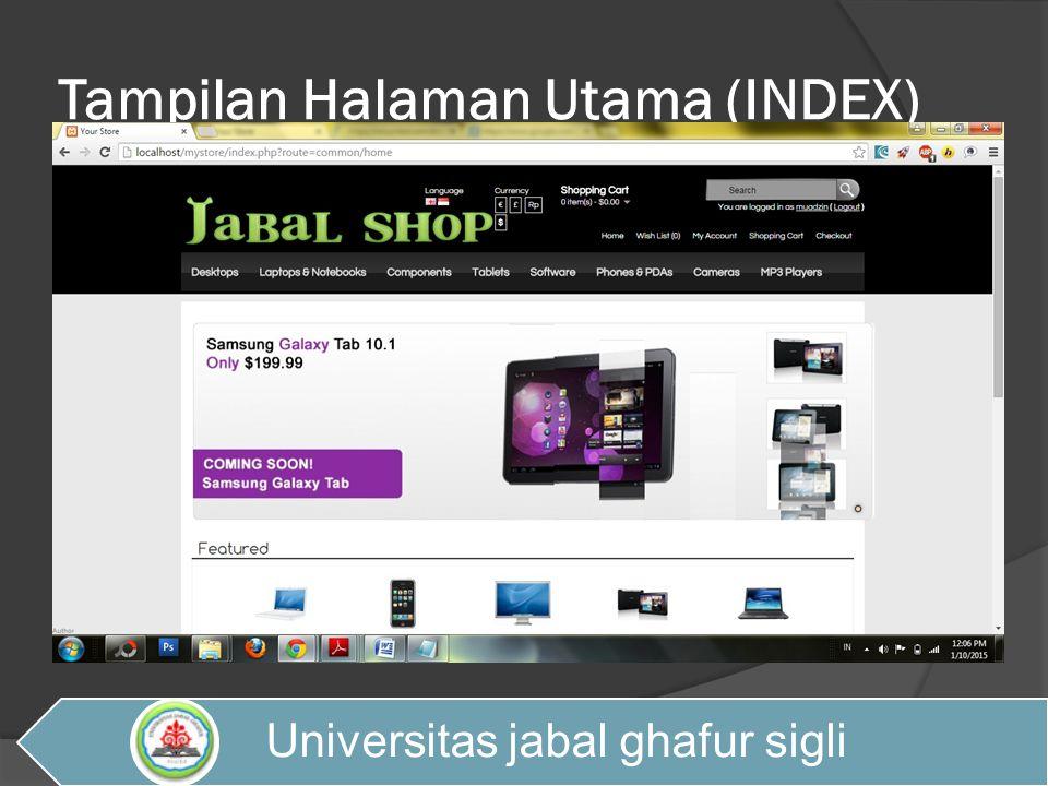 Tampilan Halaman Utama (INDEX)