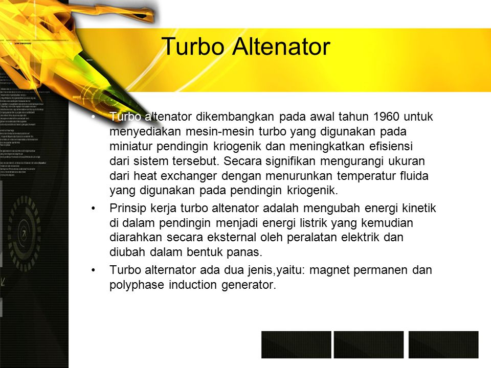 Turbo Altenator