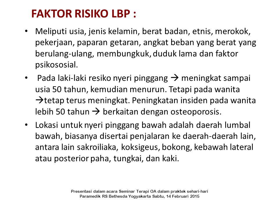 FAKTOR RISIKO LBP :