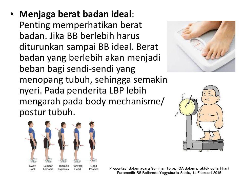 Menjaga berat badan ideal: Penting memperhatikan berat badan