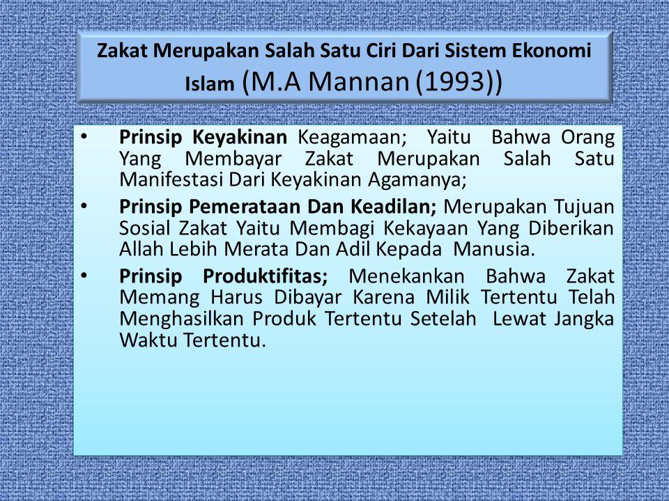 Zakat Merupakan Salah Satu Ciri Dari Sistem Ekonomi Islam (M