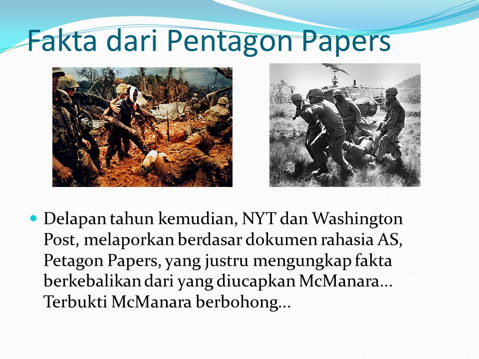 Fakta dari Pentagon Papers