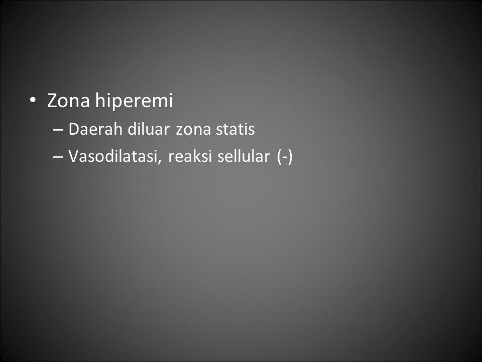 Zona hiperemi Daerah diluar zona statis