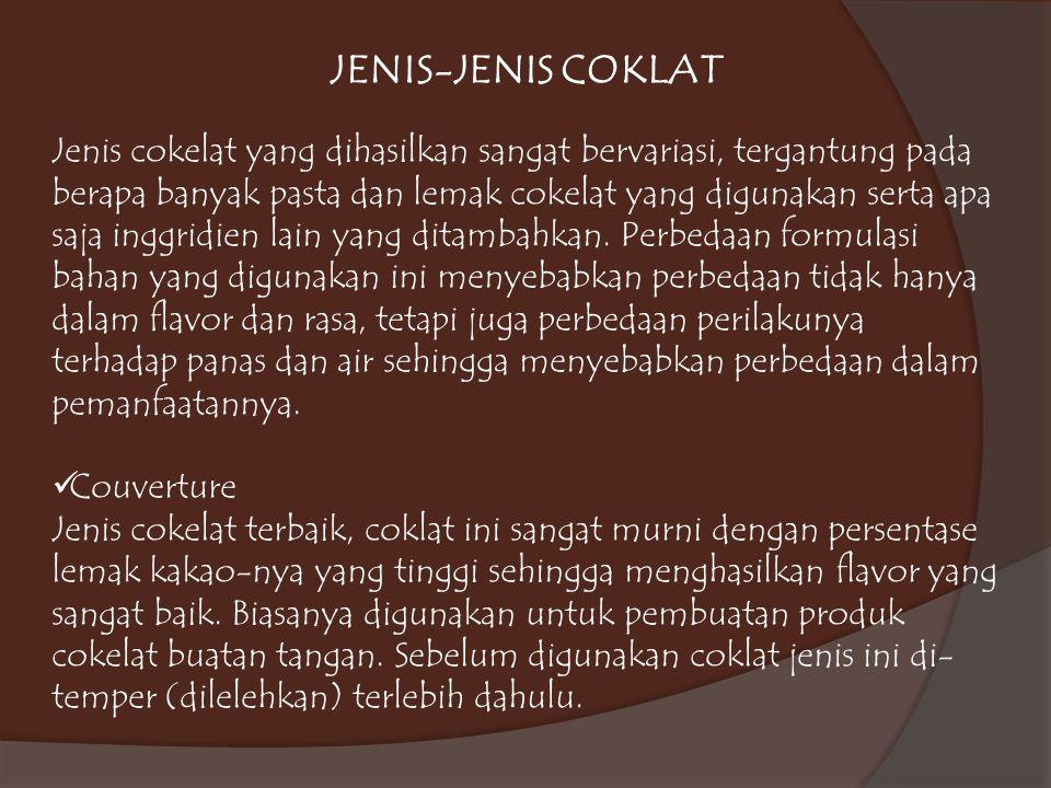 JENIS-JENIS COKLAT Couverture
