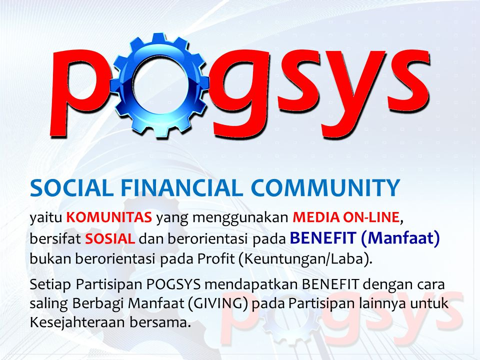 SOCIAL FINANCIAL COMMUNITY