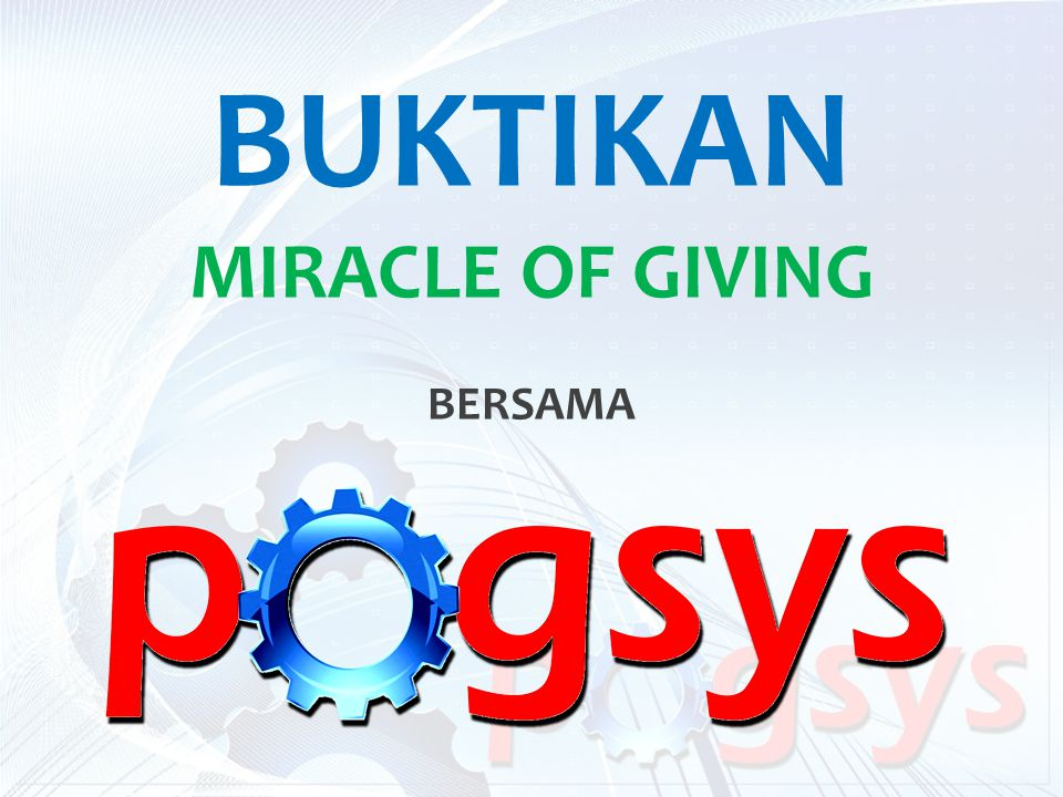 BUKTIKAN MIRACLE OF GIVING BERSAMA