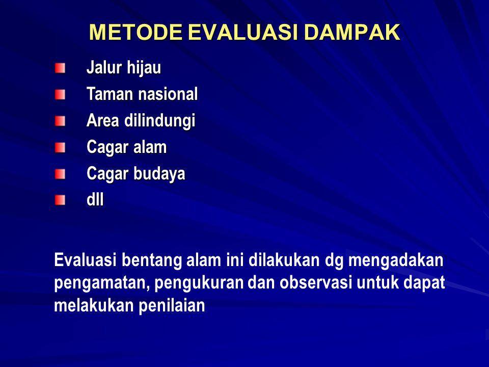 METODE EVALUASI DAMPAK