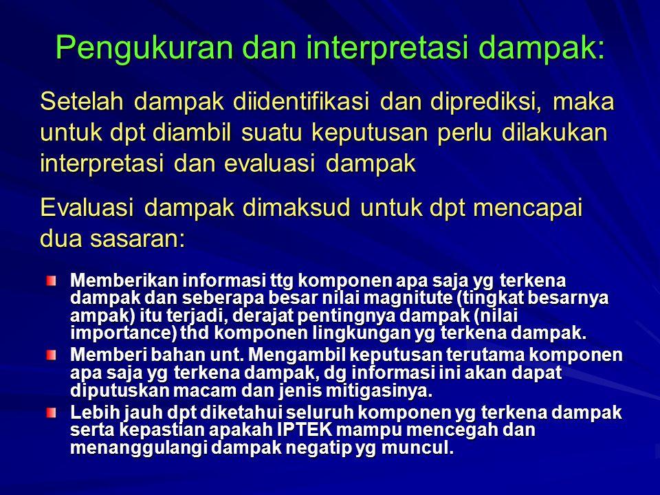 Pengukuran dan interpretasi dampak: