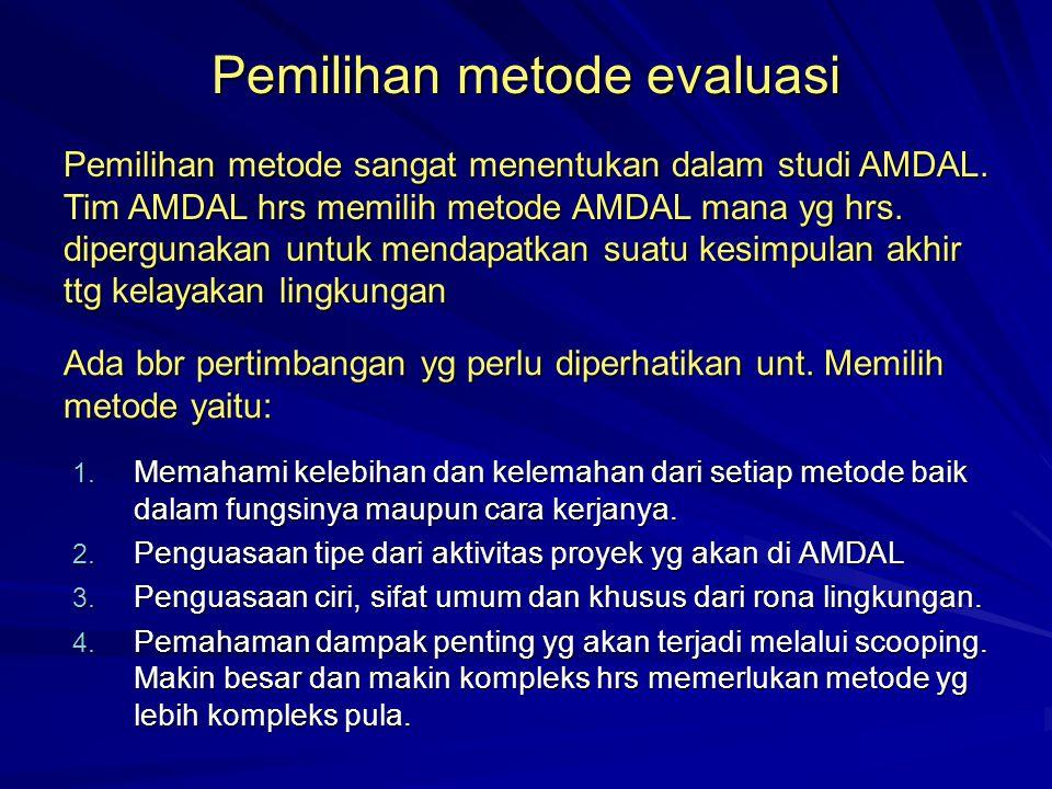 Pemilihan metode evaluasi
