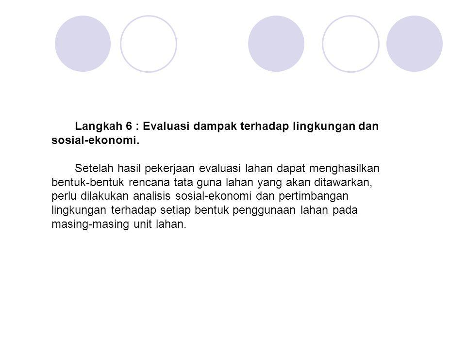 Langkah 6 : Evaluasi dampak terhadap lingkungan dan sosial-ekonomi.