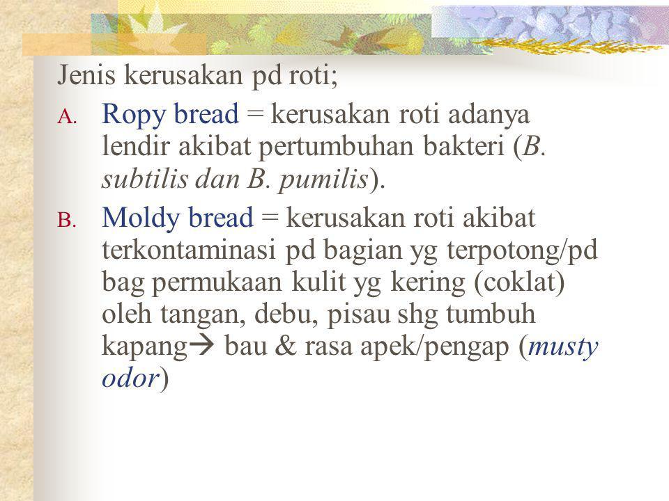 Jenis kerusakan pd roti;