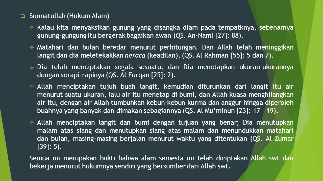 Sunnatullah (Hukum Alam)