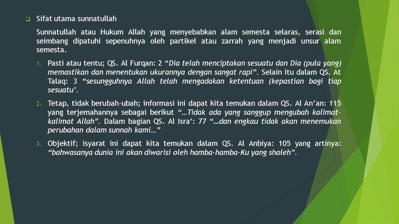 Sifat utama sunnatullah