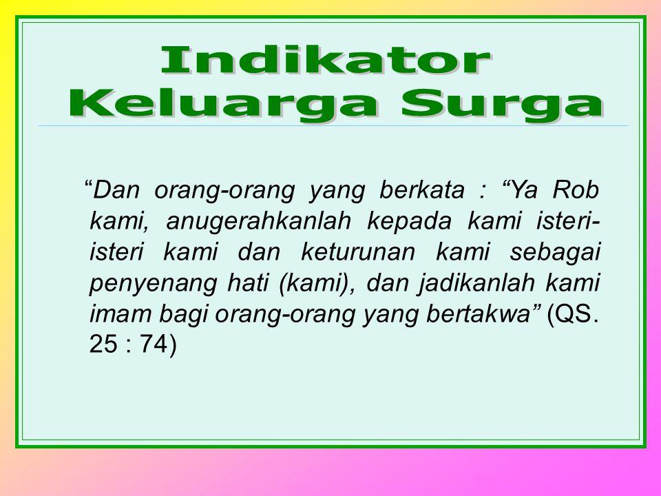 Indikator Keluarga Surga