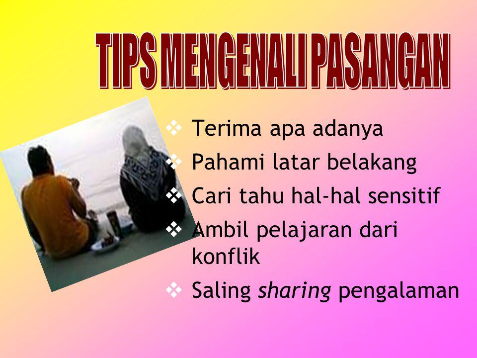 TIPS MENGENALI PASANGAN