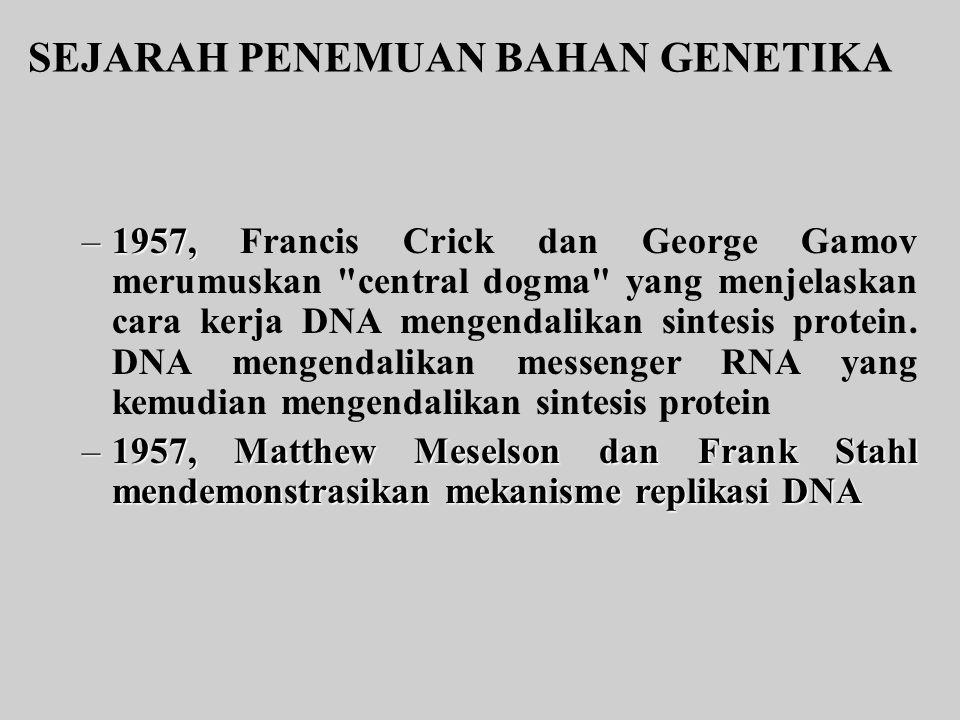 SEJARAH PENEMUAN BAHAN GENETIKA