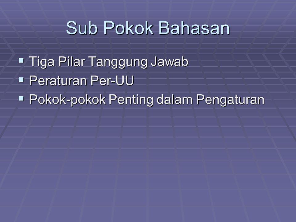 Sub Pokok Bahasan Tiga Pilar Tanggung Jawab Peraturan Per-UU