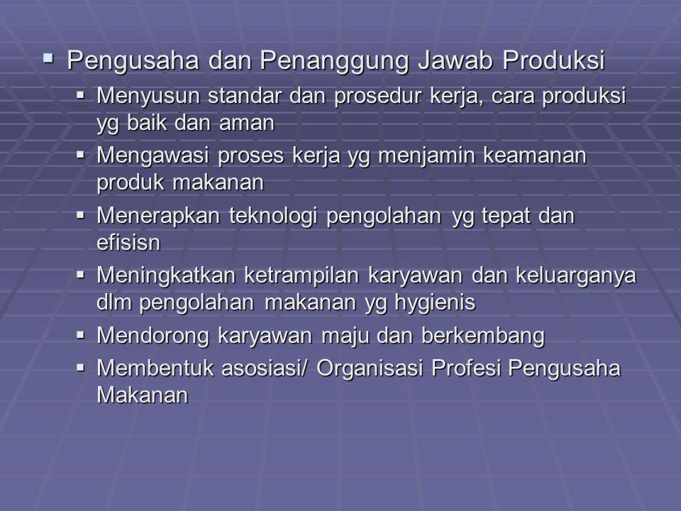 Pengusaha dan Penanggung Jawab Produksi