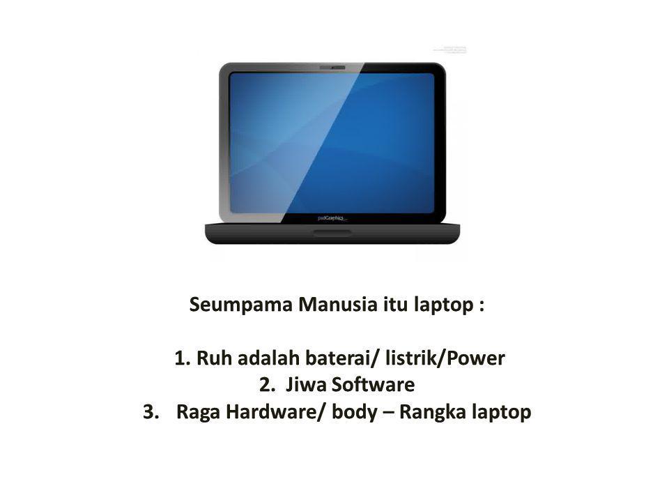 Seumpama Manusia itu laptop : 1. Ruh adalah baterai/ listrik/Power