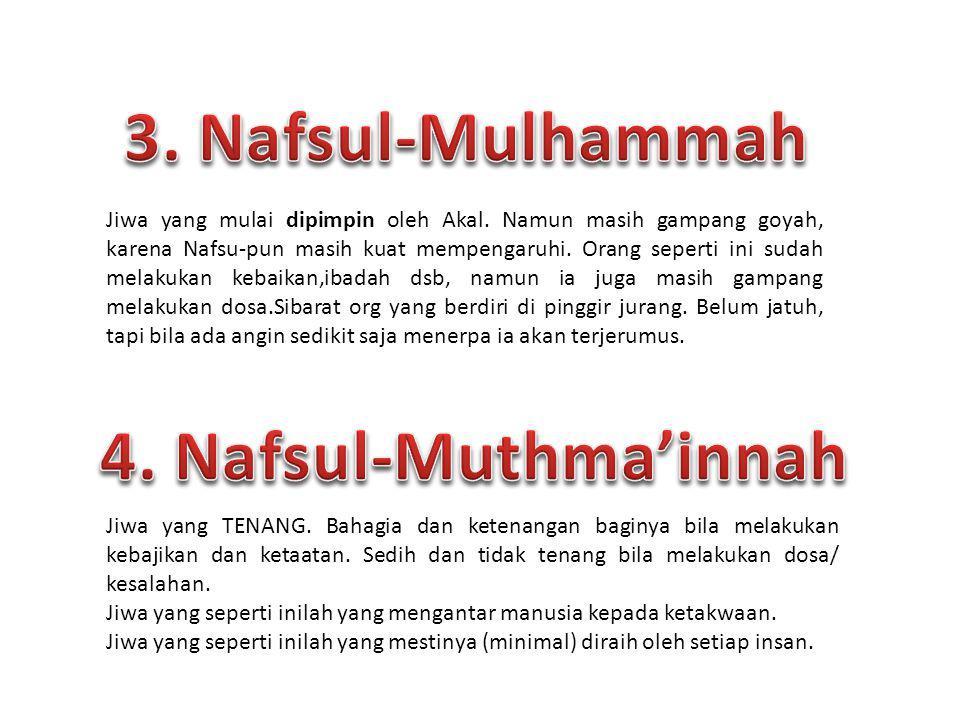 3. Nafsul-Mulhammah 4. Nafsul-Muthma'innah