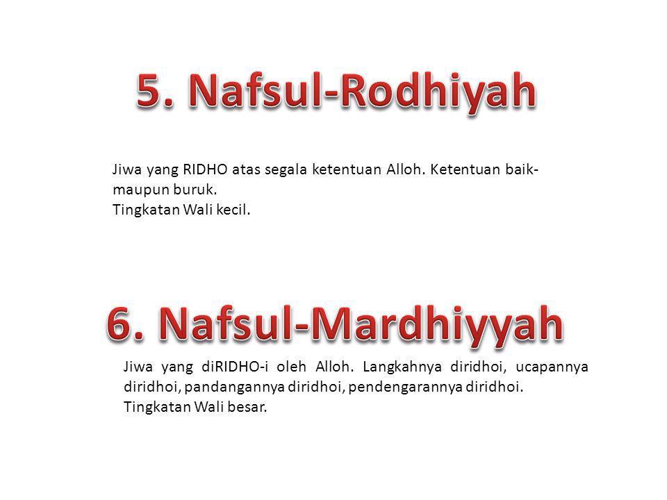 5. Nafsul-Rodhiyah 6. Nafsul-Mardhiyyah
