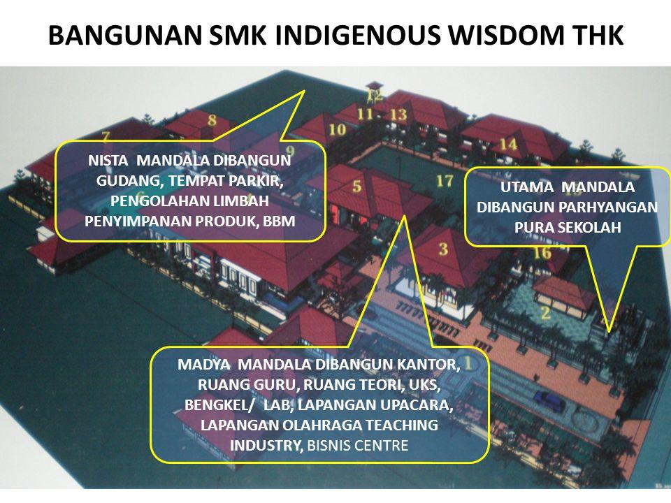 BANGUNAN SMK INDIGENOUS WISDOM THK UTAMA MANDALA DIBANGUN PARHYANGAN