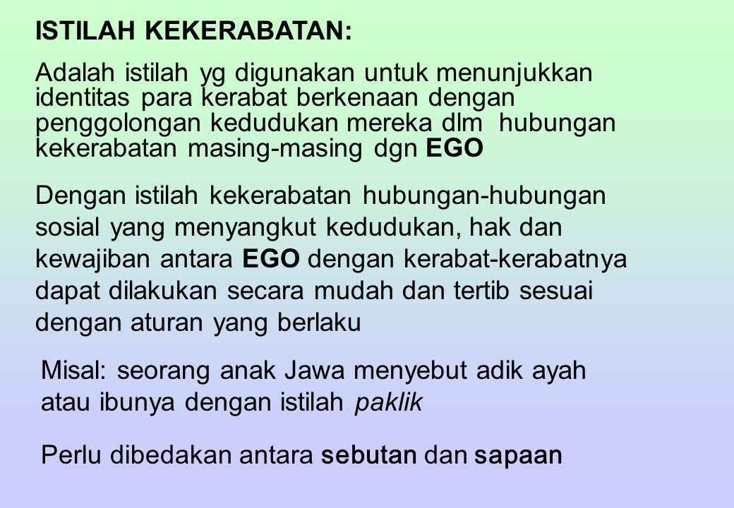 ISTILAH KEKERABATAN: