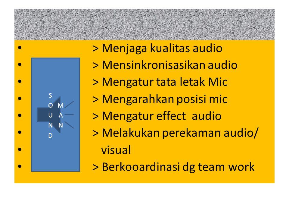 > Menjaga kualitas audio > Mensinkronisasikan audio